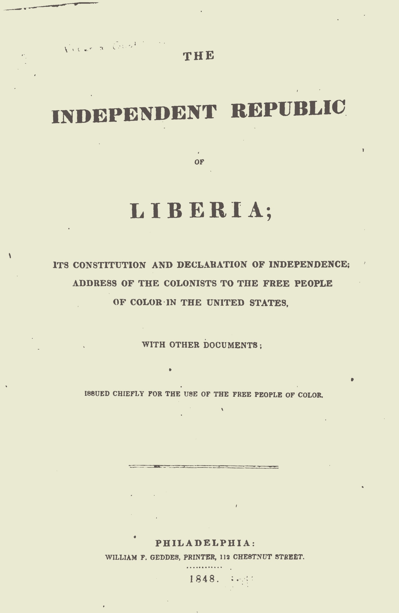 Herring, Amos, The Independent Republic of Liberia Title Page.jpg