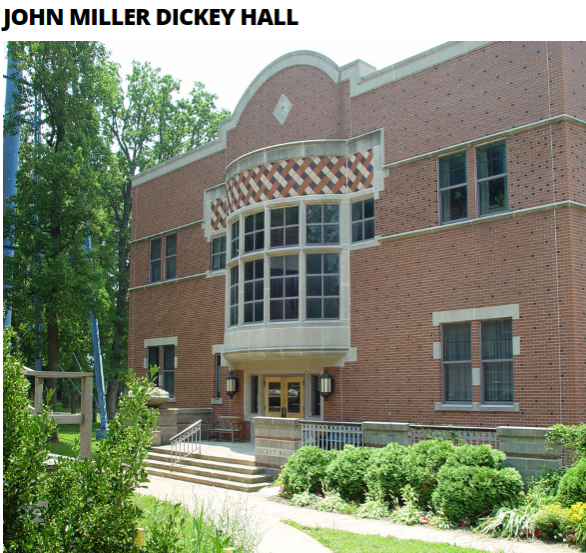 John Miller Dickey Hall at Lincoln University, Oxford, Pennsylvania is named in his honor.