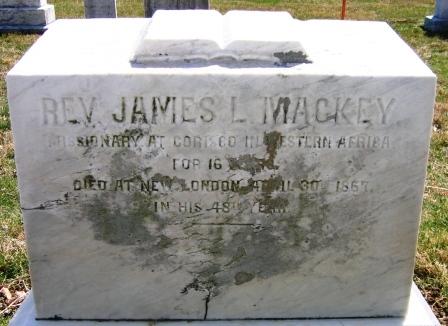 James Love Mackey is buried at New London Presbyterian Church Cemetery, New London,, Pennsylvania.