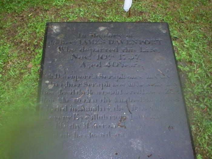 James Davenport is buried in Pennington, New Jersey.