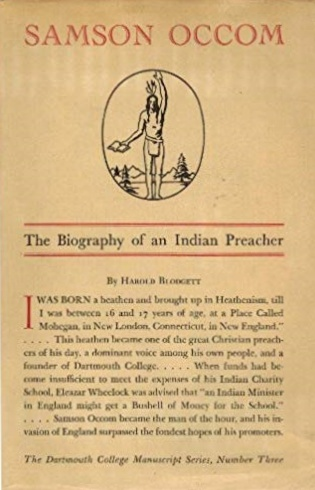 Blodgett, Harold WIlliam, Samson Occom, The Biography of an Indian Preacher.jpg