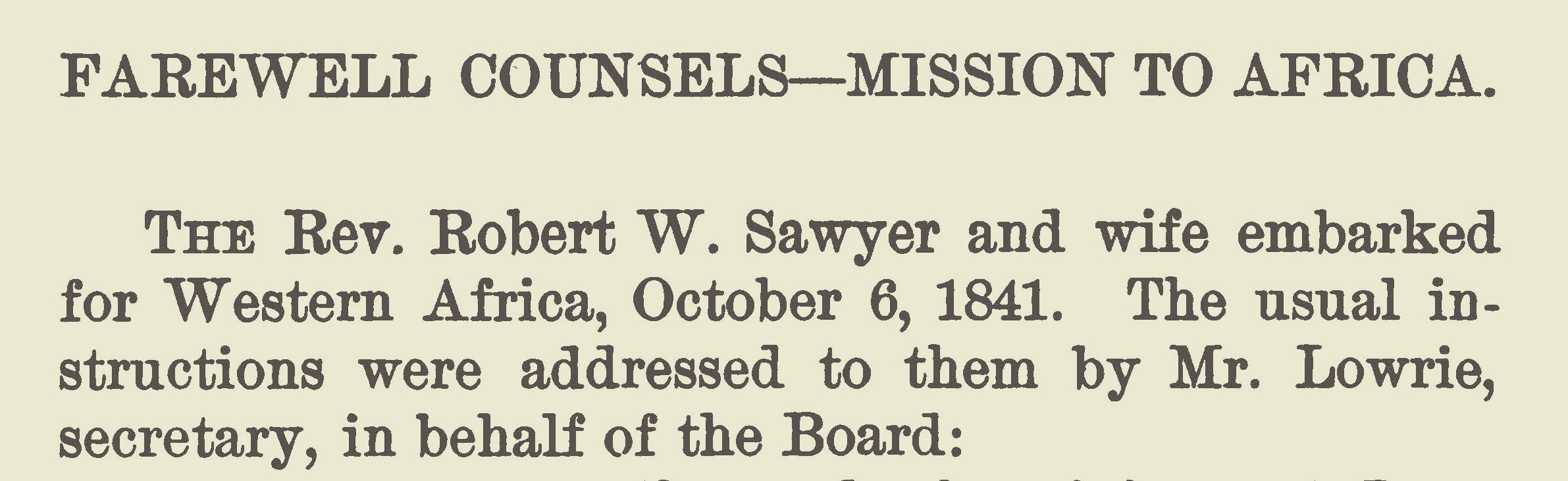 Lowrie, Walter, Farewell Counsels - Africa Title Page.jpg