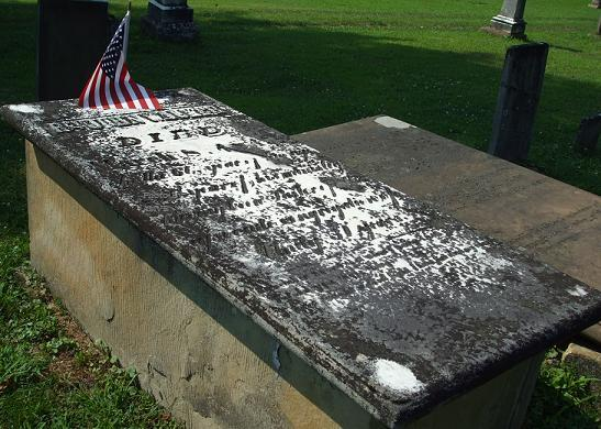 John Walker is buried at Unity Cemetery, Fairpoint, Ohio.