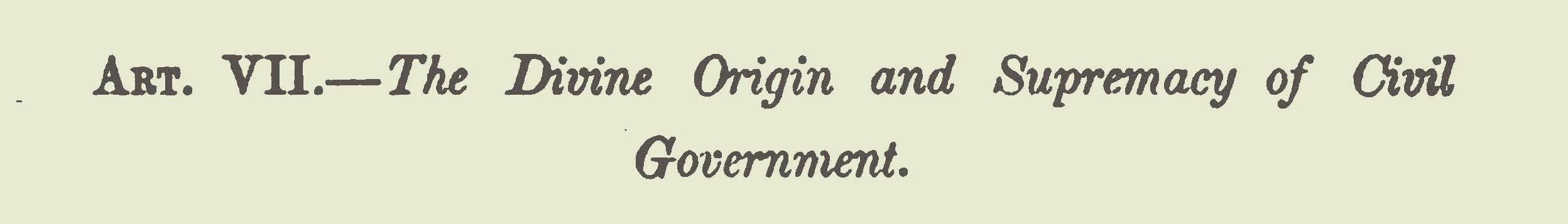 Breckinridge, Robert Jefferson, The Divine Origin and Supremacy of Civil Government Title Page.jpg