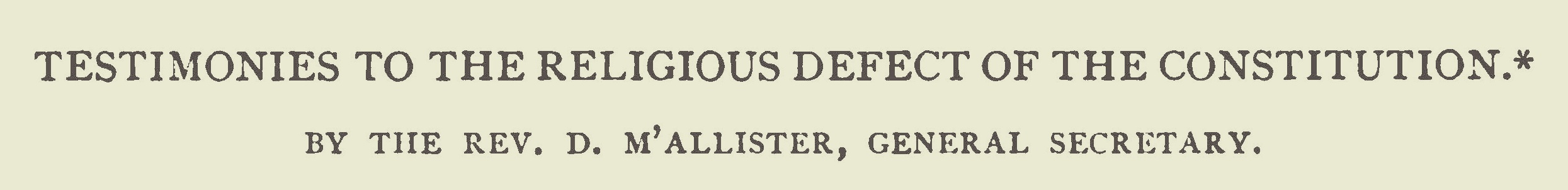 McAllister, David, Testimonies to the Religious Defect of the Constitution Title Page.jpg