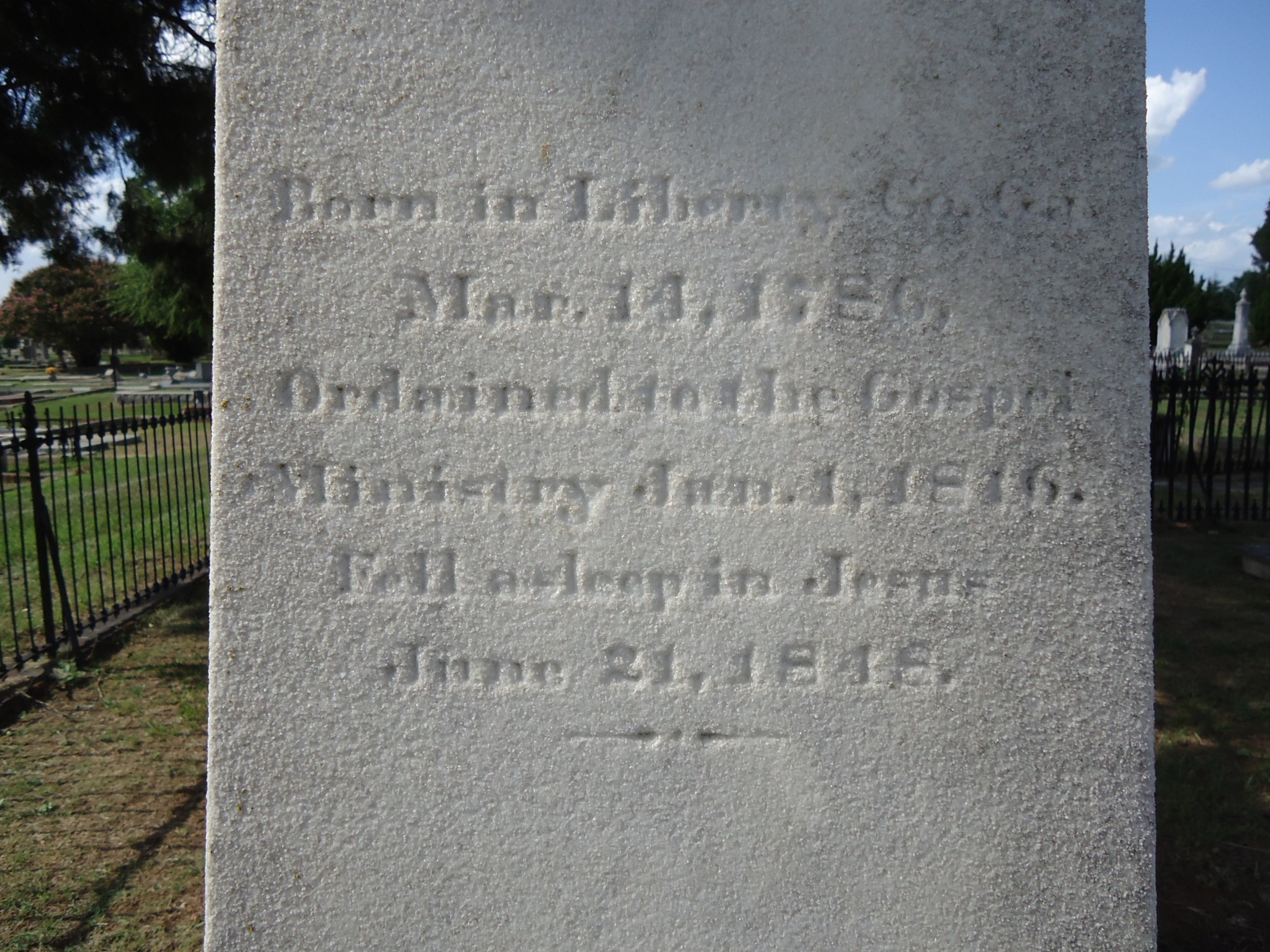 Thomas Goulding is buried at Linwood Cemetery, Columbus, Georgia.