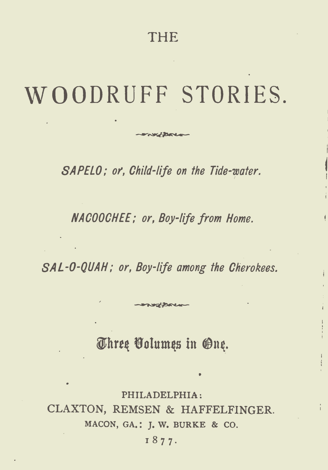 Goulding, Francis Robert, The Woodruff Stories Title Page.jpg