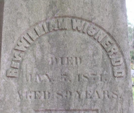 William Wisner is buried at Ithaca City Cemetery, Ithaca, New York.