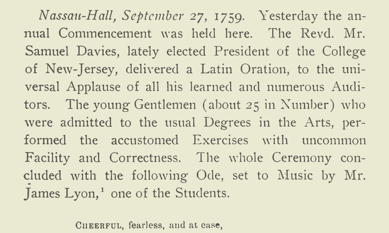 Davies, Samuel, 1759 Commencement Ode Title Page.jpg