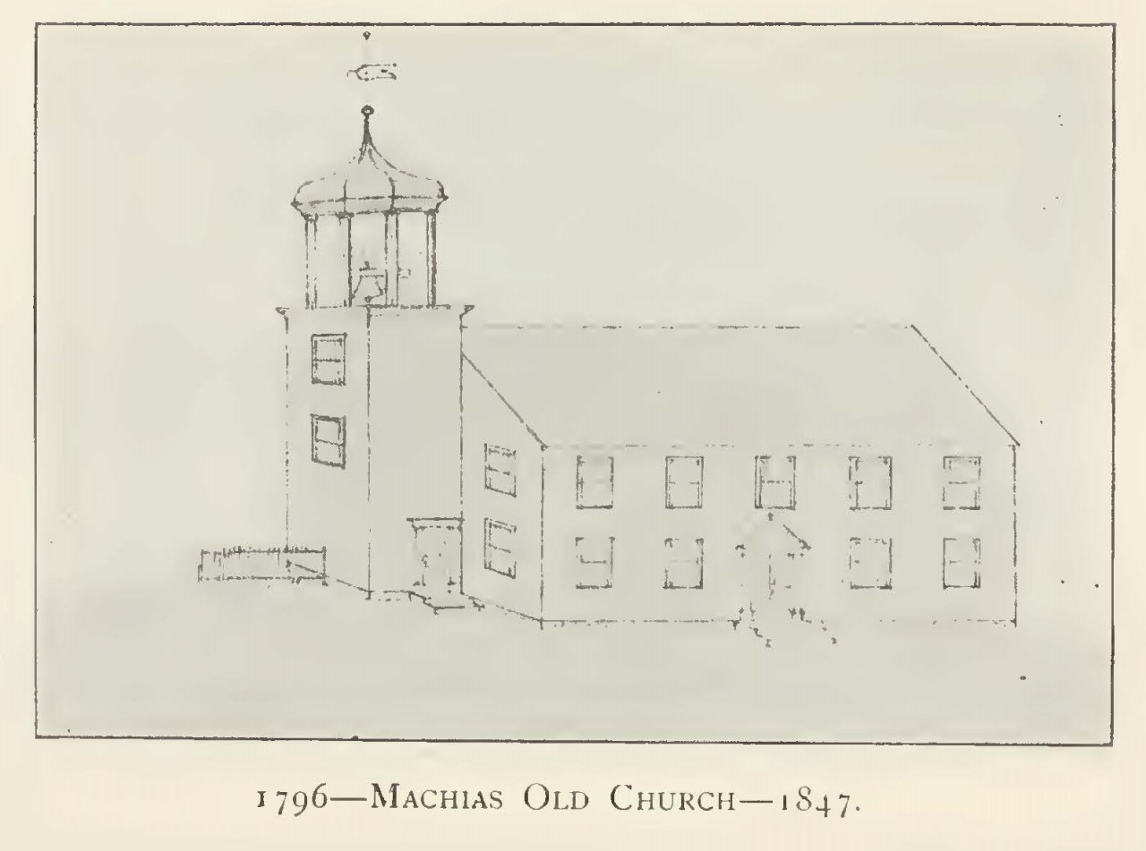 """James Lyon, a Presbyterian minister and one of America's earliest composers, ministered at the Congregational Church in Machias, Maine from 1771 until his death in 1794. Plans for the church building pictured (now known as the Centre Street Congregational Church) began in 1793. A memorial window in the current building (constructed in 1836) reads: """"In memory of Rev. James Lyon, A Noble Patriot, A Faithful Minister, A Good Man, and Full of the Holy Ghost."""""""