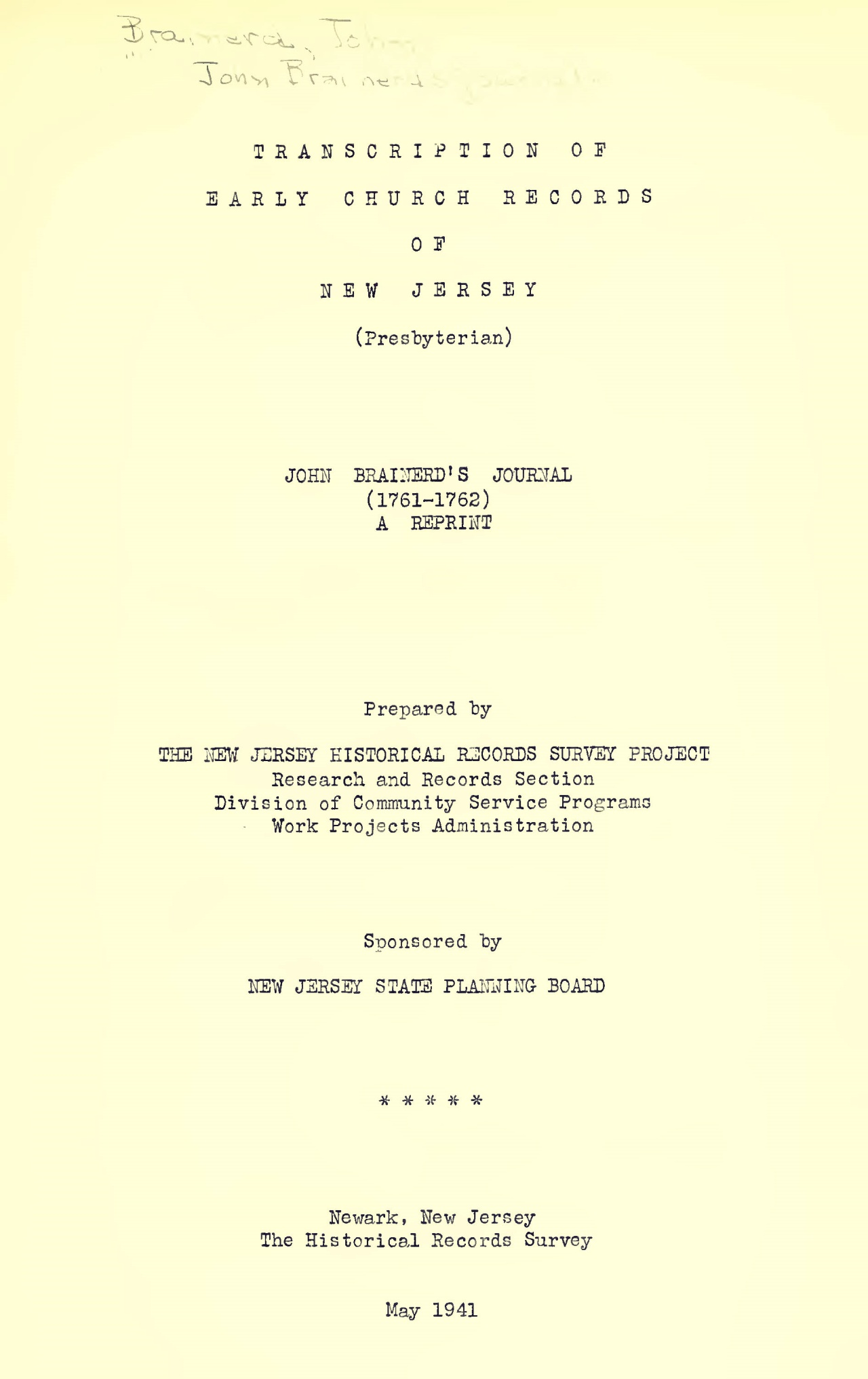 Brainerd, John, Journal Title Page.jpg