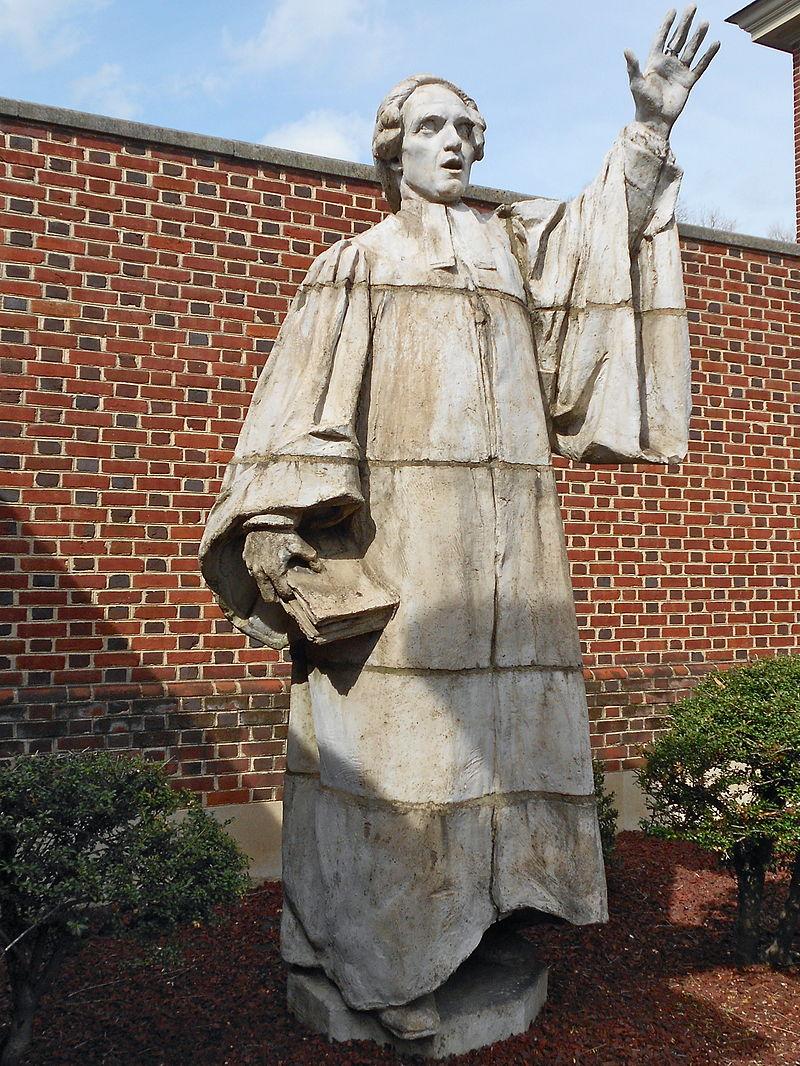The Francis Makemie statue by Alexander Stirling Calder, located at the Presbyterian Historical Society, Philadelphia, Pennsylvania.