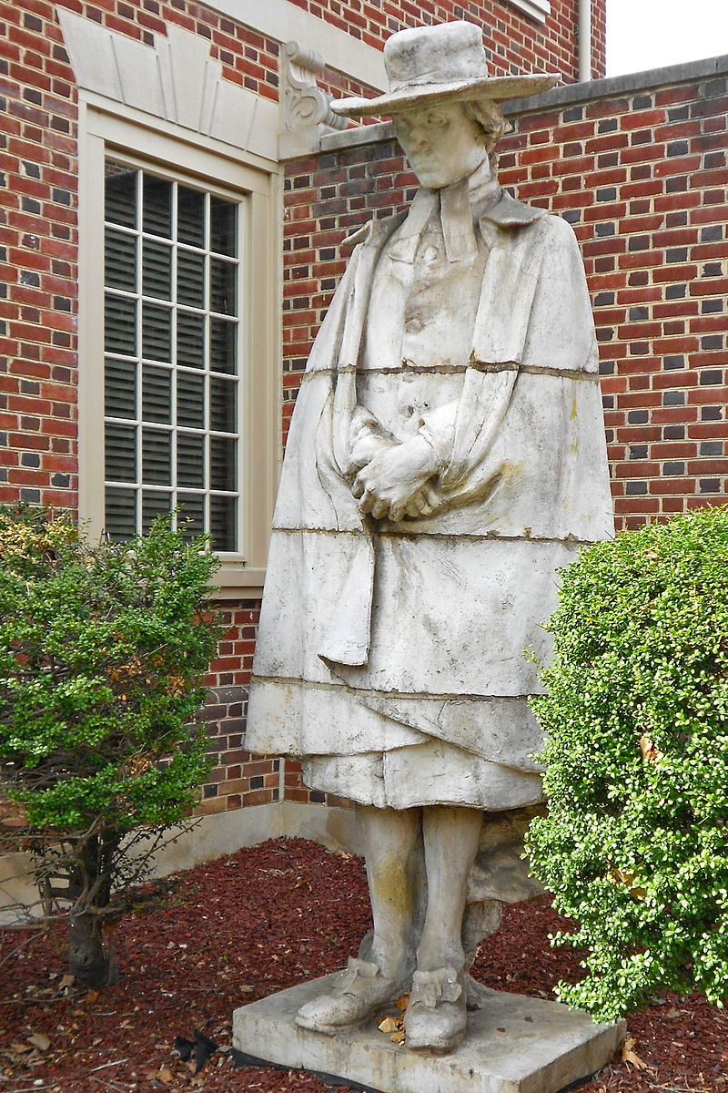 The Samuel Davies statue by Alexander Stirling Calder, located at the Presbyterian Historical Society, Philadelphia, Pennsylvania.