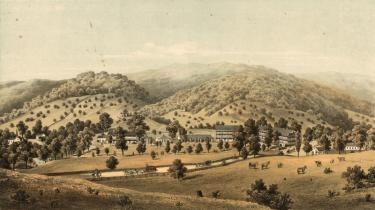 Red Sweet Springs, as it appeared in 1867. Source:  http://exhibits.hsl.virginia.edu/springs/redsweet/