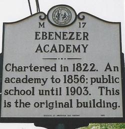 James Blythe was the founder of Ebenezer Academy, near Statesville, North Carolina.
