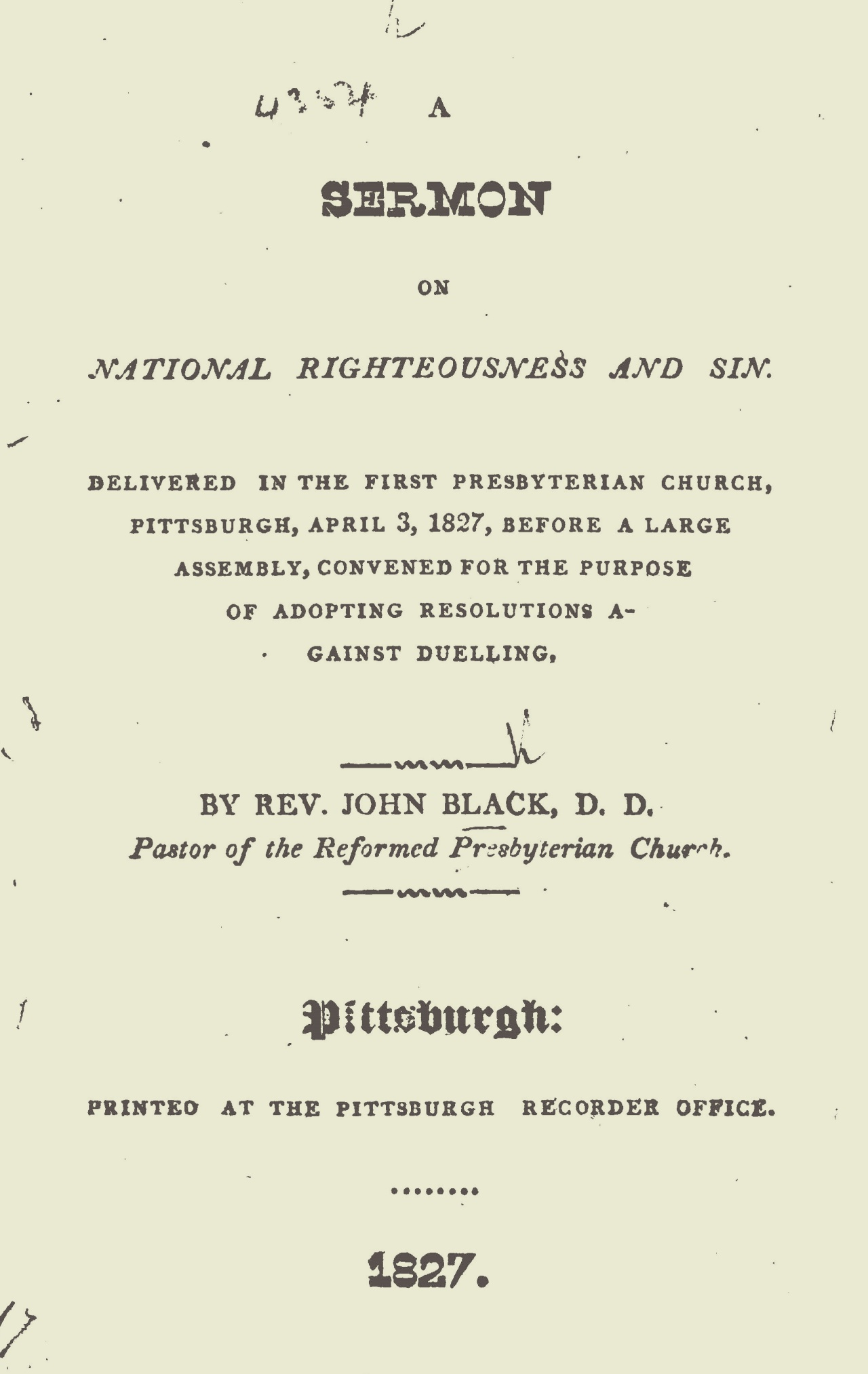 Black, John, A Sermon on National Righteousness and Sin Title Page.jpg