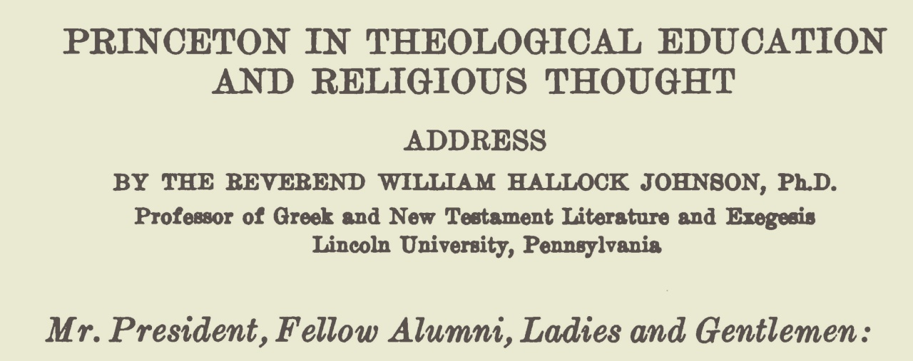 Johnson, William Hallock, Princeton in Theological Education and Religious Thought Title Page.jpg
