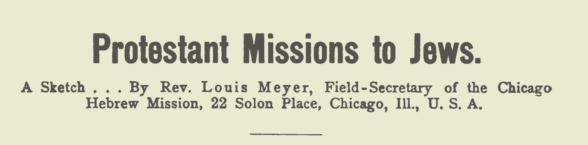 Meyer, Louis, 1906 Protestant Missions to the Jews Title Page.jpg