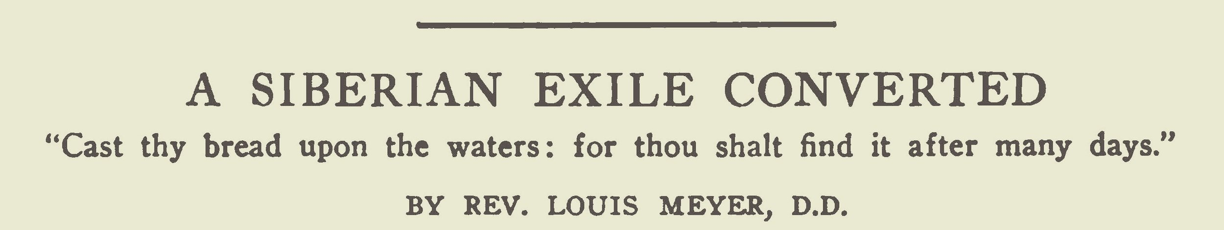 Meyer, Louis, A Siberian Exile Converted Title Page.jpg