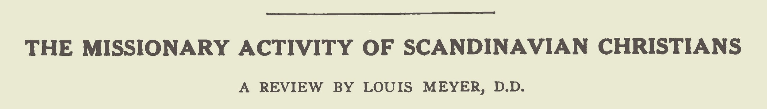 Meyer, Louis, The Missionary Activity of Scandinavian Christians Title Page.jpg