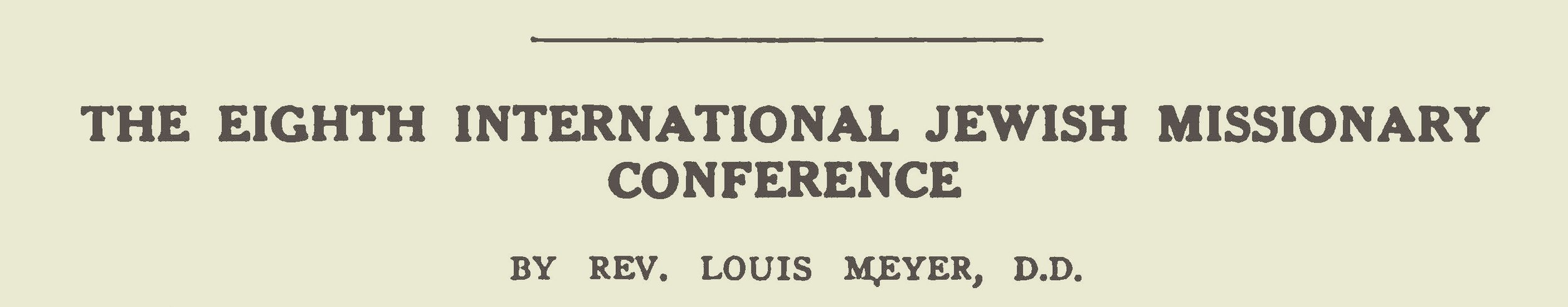 Meyer, Louis, The Eighth International Jewish Missionary Conference Title Page.jpg