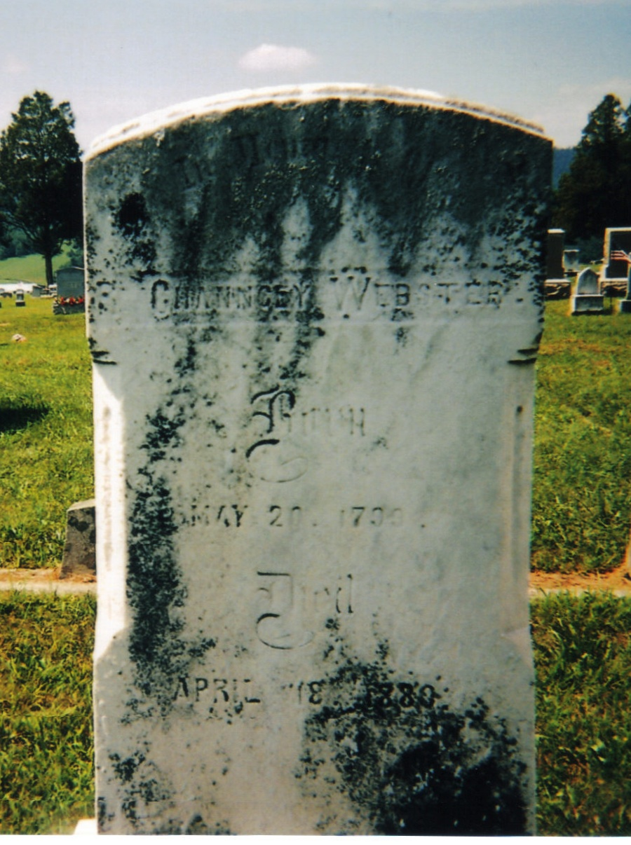 Chauncey Webster is buried at Union Cemetery, McConnellsburg, Pennsylvania.