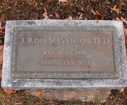 Joseph Ross Stevenson is buried at Princeton Cemetery, Princeton, New Jersey.