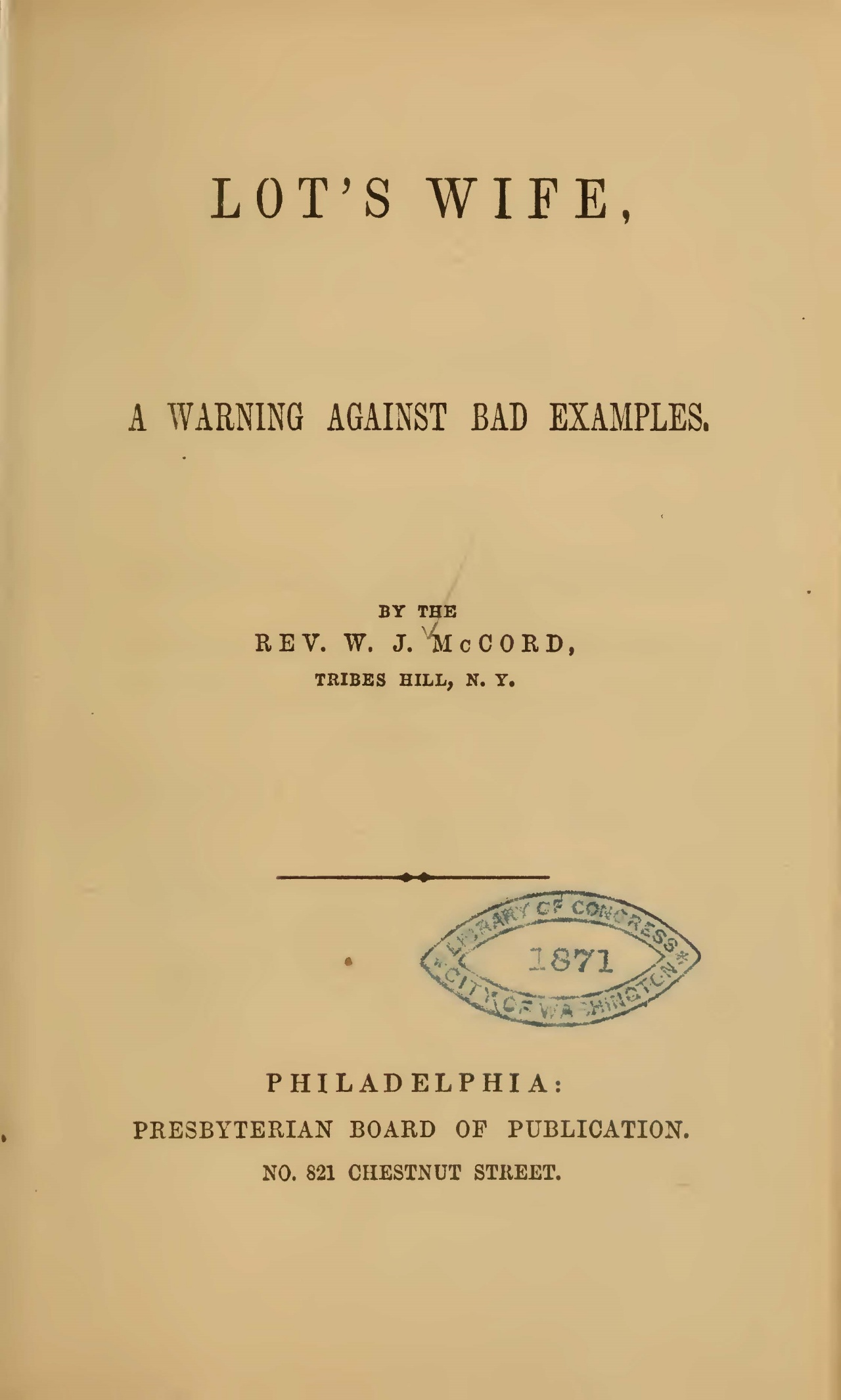 McCord, William J., Lot's Wife Title Page.jpg