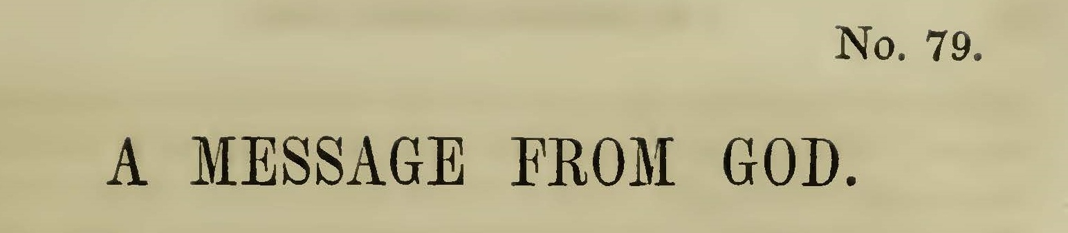 McCord, William J., A Message From God Title Page.jpg