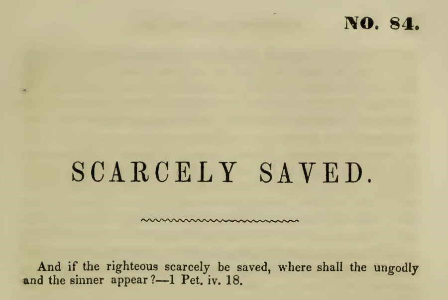 McCord, William J., Scarcely Saved Title Page.jpg
