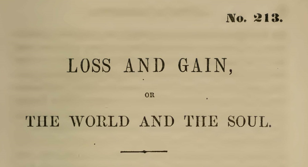 McCord, William J., Loss and Gain Title Page.jpg
