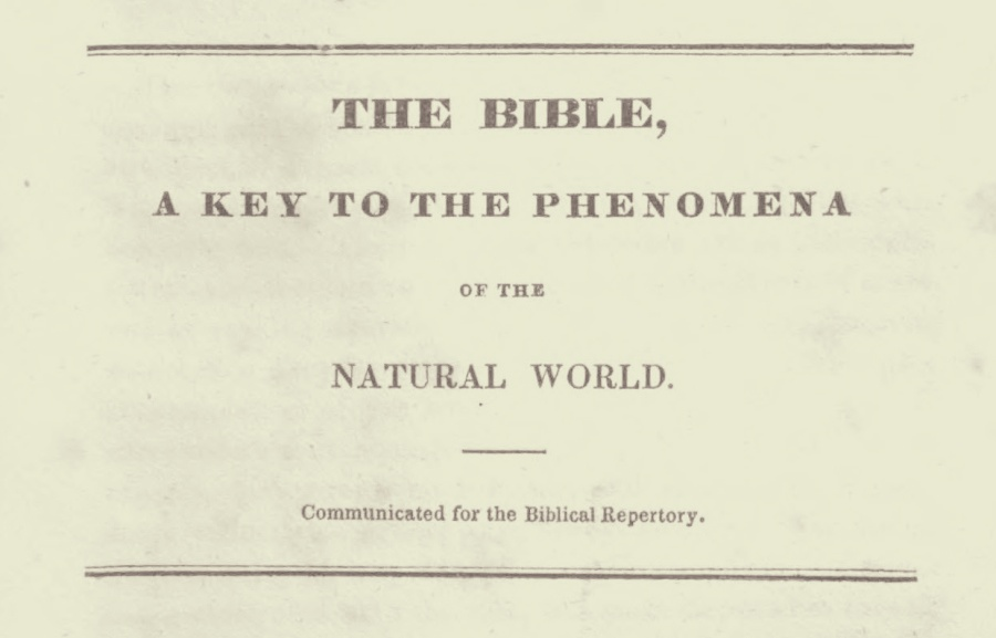 Alexander, Archibald, The Bible, A Key to the Phenomena of the Natural World Title Page.jpg