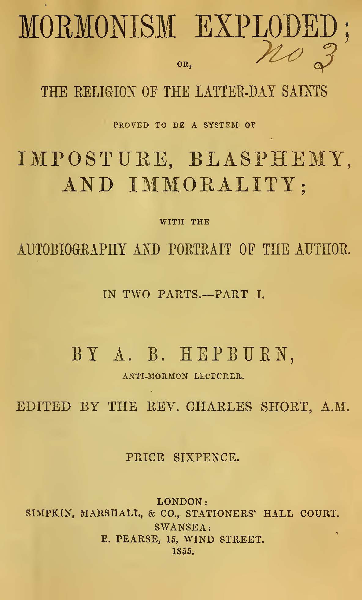 Hepburn, Andrew Dousa, Mormonism Exploded Title Page.jpg