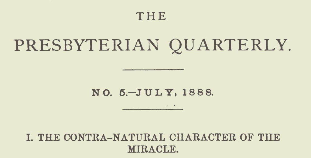 Girardeau, John Lafayette, The Contra-Natural Character of the Miracle Title Page.jpg