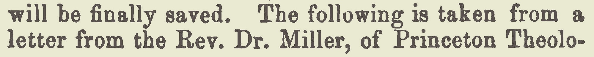 Miller, Samuel, February 9, 1836 Letter on the Doctrine of the Atonement Title Page.jpg