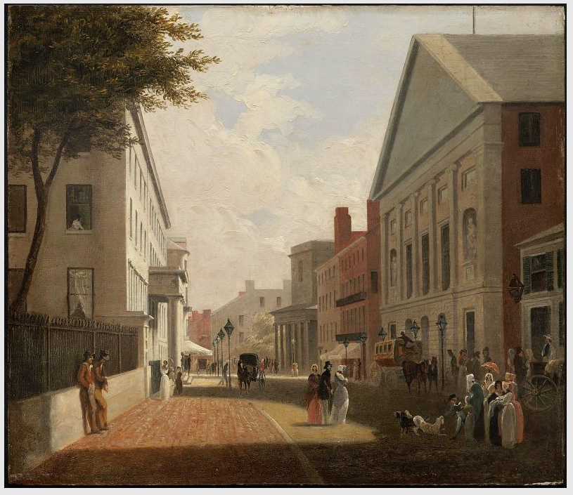 View of Tremont Street, Boston, Massachusetts c. 1843 by Philip Harry. Alexander Cameron Blaikie organized an Associate Reformed Church congregation at St. Philip's Place, Tremont Street in 1846, and served as its pastor from 1847 to 1880.
