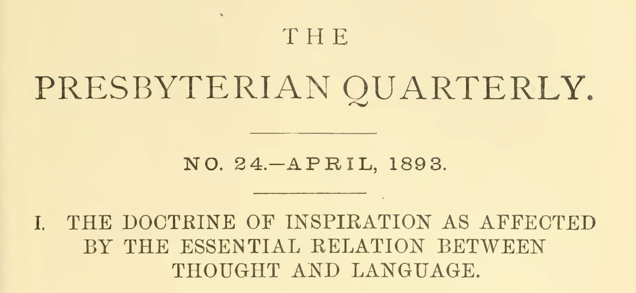 Alexander, Henry Carrington, The Doctrine of Inspiration as Affected by the Essential Relation Between Thought and Language Title Page.jpg