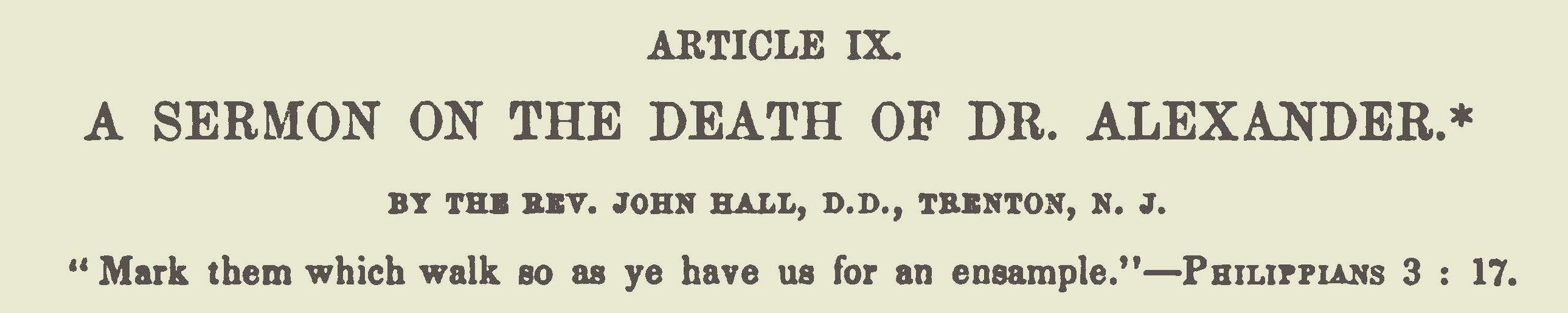 Hall, John, A Sermon on the Death of Dr Alexander Title Page.jpg