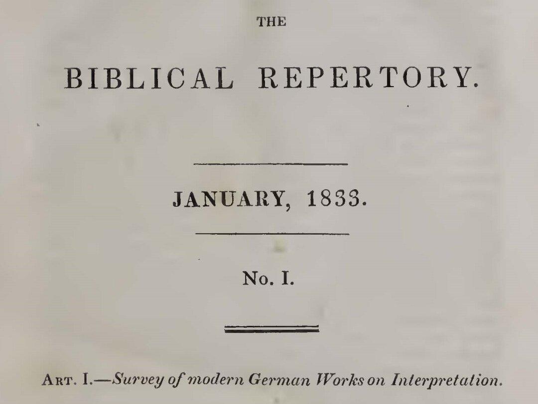 Alexander, Archibald, Survey of Modern German Works on Interpretation Title Page.jpg