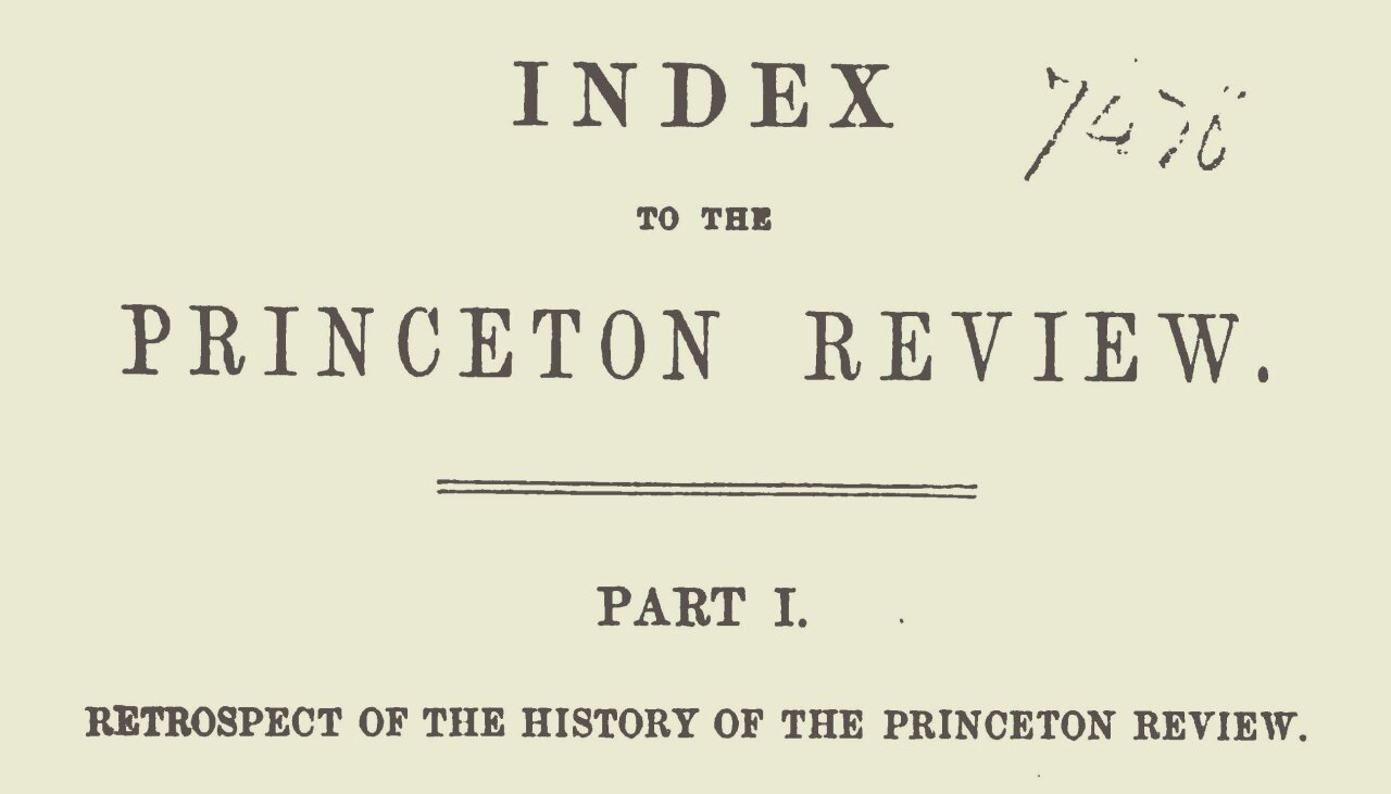 Hodge, Charles, Retrospect of the History of the Princeton Review Title Page.jpg