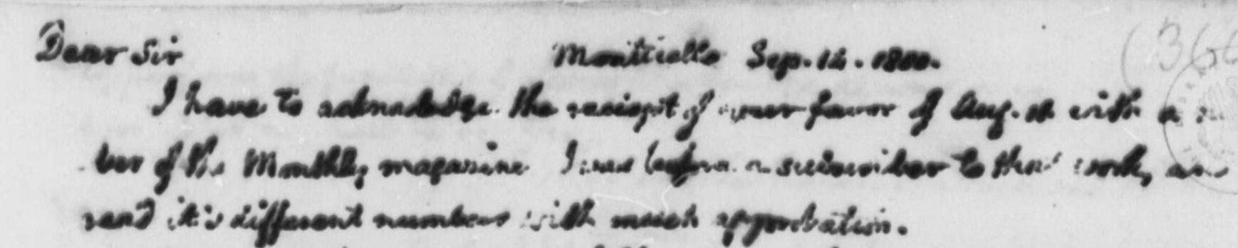 Miller, Samuel, September 14, 1800 Letter to Thomas Jefferson Title Page.jpg
