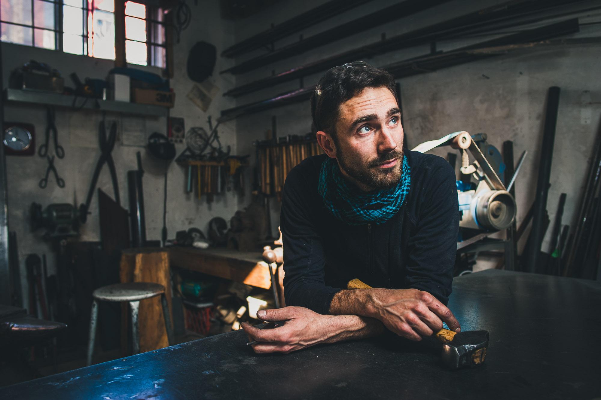 Jacques Gallant , blacksmith