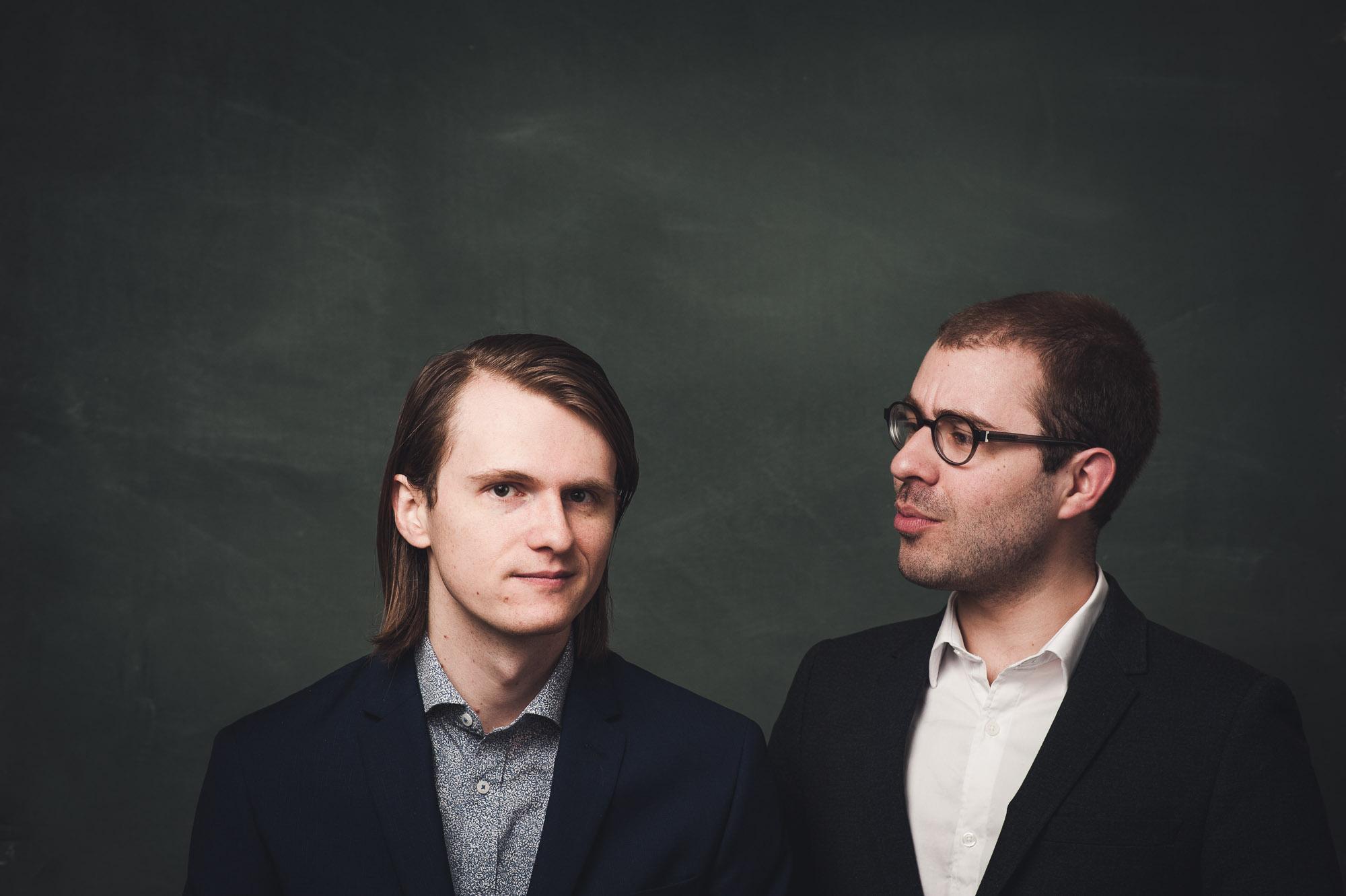 Mark and Vincent, harpsichordist and flutist