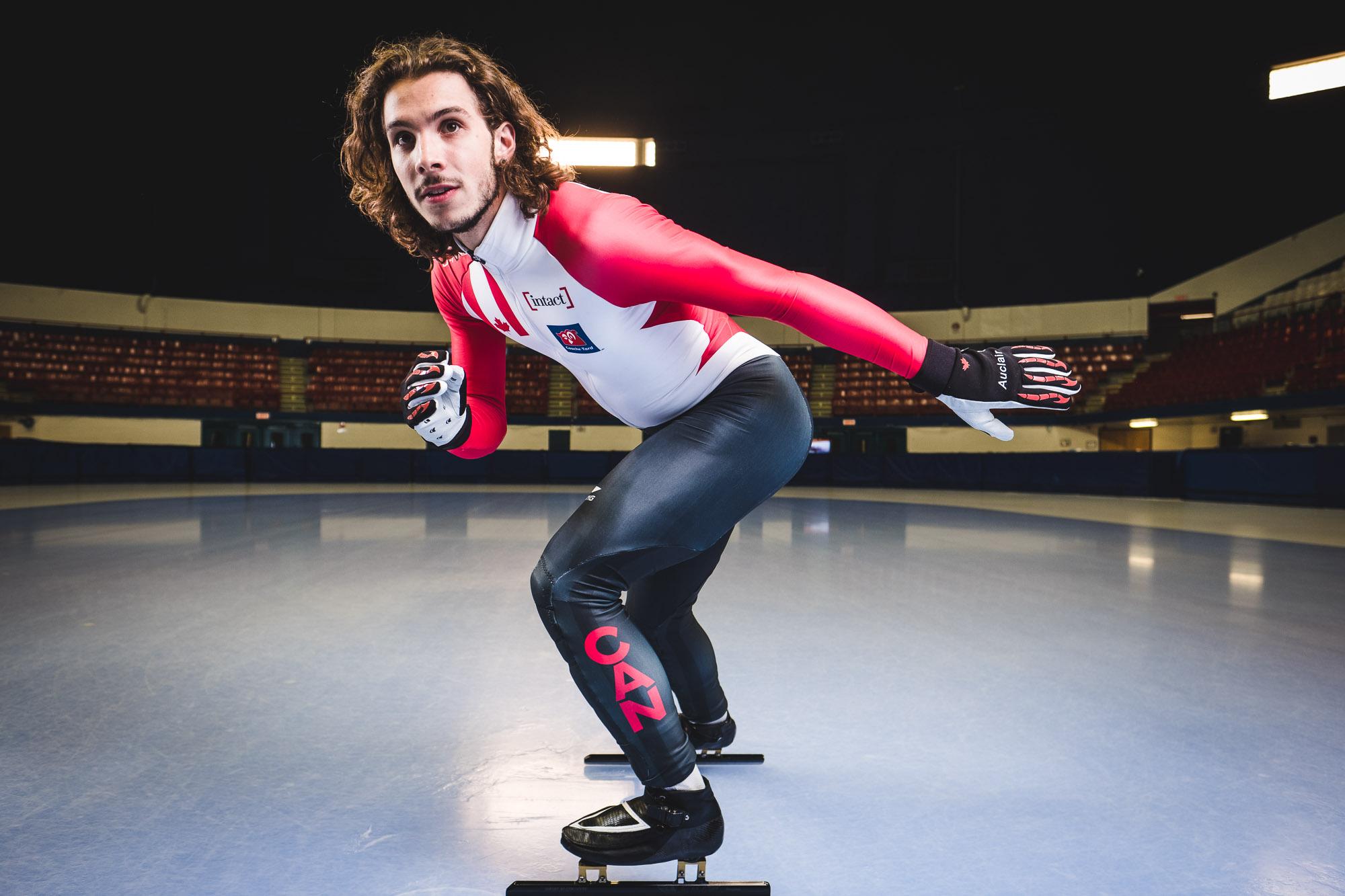 Samuel Girard, gold-medalist speed skater