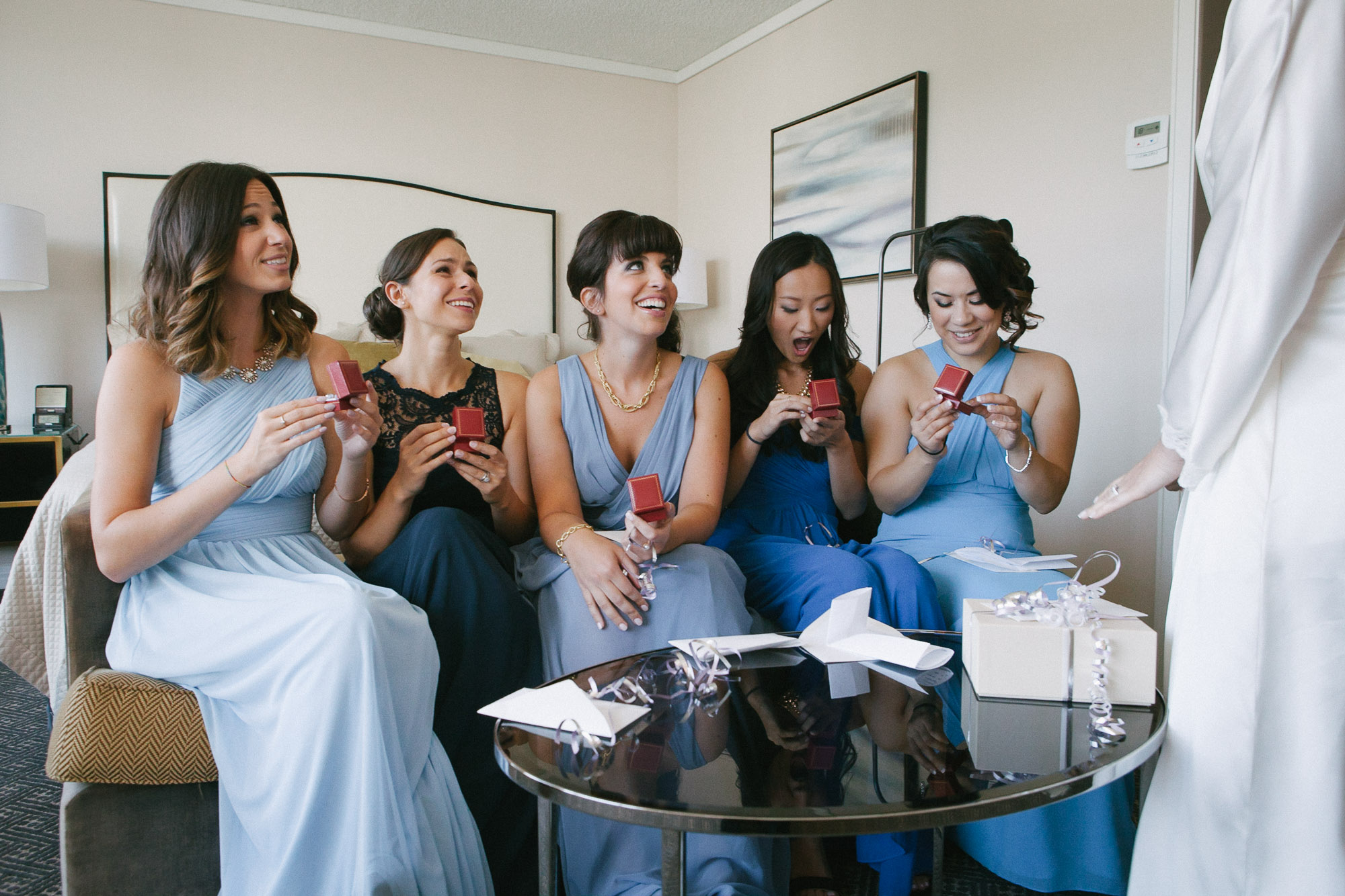 bridesmaids-receiving-gifts