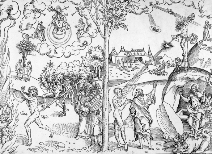 Lucas Cranach the Elder's Allegory of Law and Grace