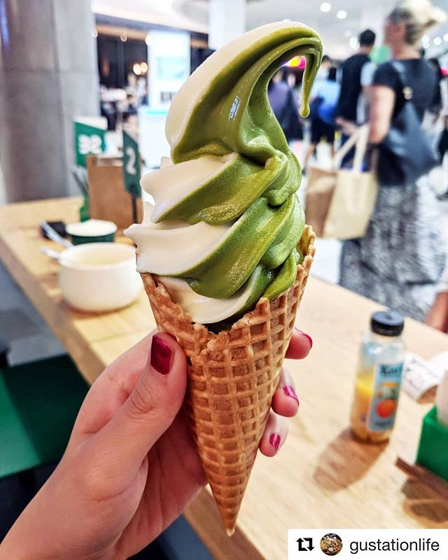 Vanilla and green tea are a 'matcha' made in heaven, just ask Mottoer @gustationlife  #icecream #greentea #matcha