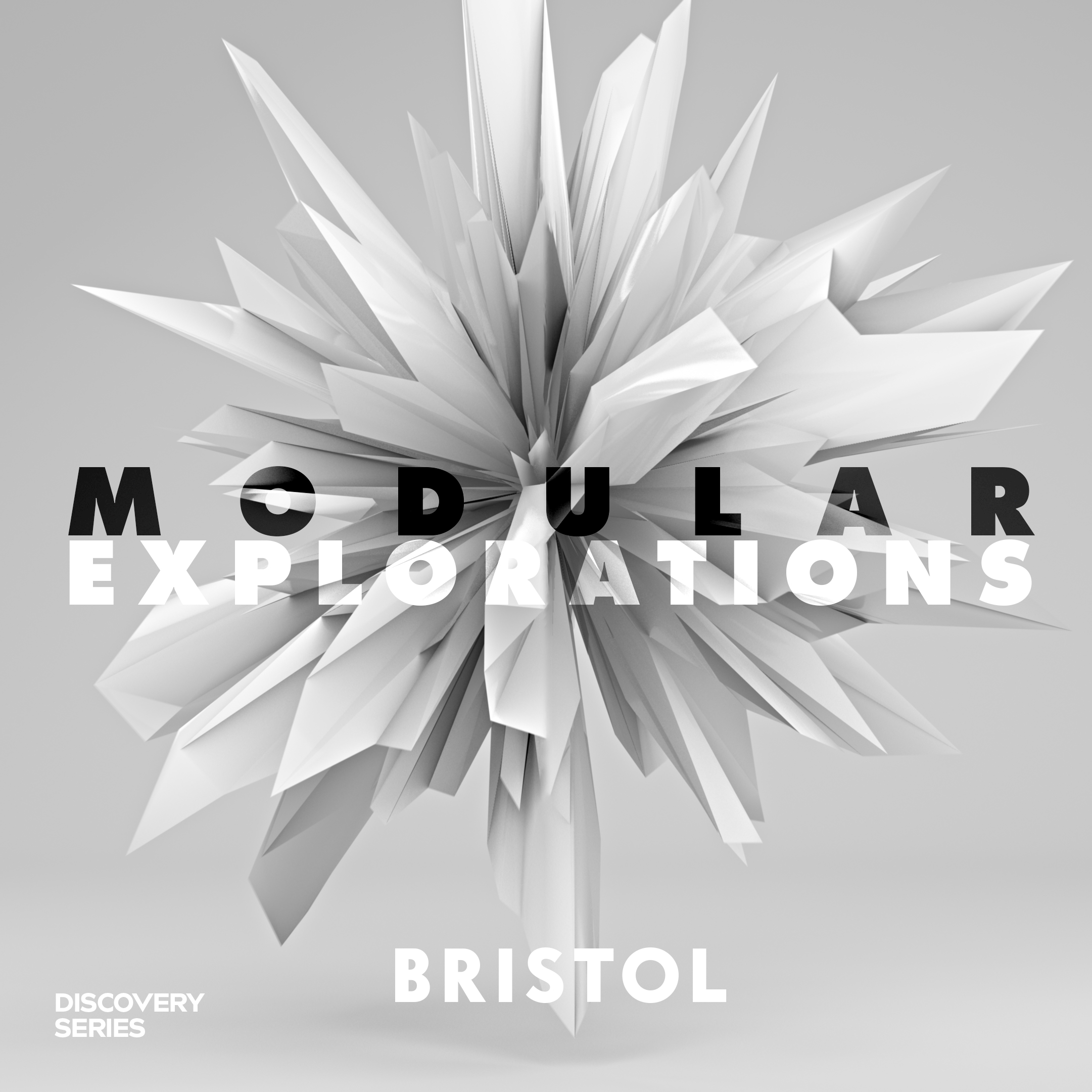 Modular Explorations: Bristol features cinematic alien arcades and cities, deserted crystalline caverns, vast hives of digital insects, distressed metal impacts and abstract user interface sounds. -
