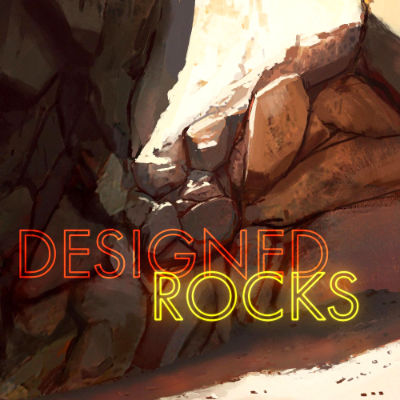 Designed Rocks features crumbling and cracking rock sound effects, shattering glitches, evolving textures, and everything in between