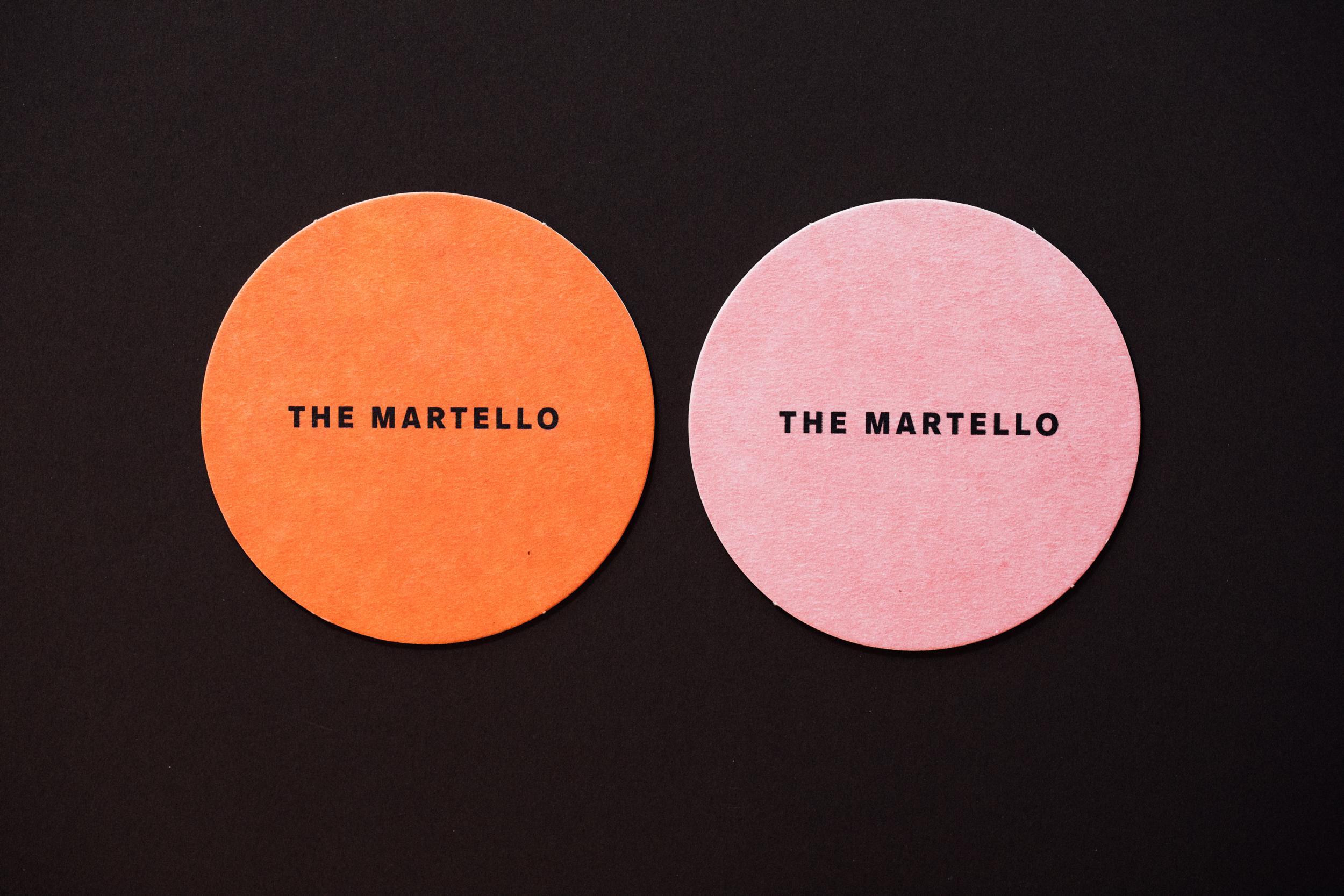Beer mat design for The Martello, by brennan & stevens